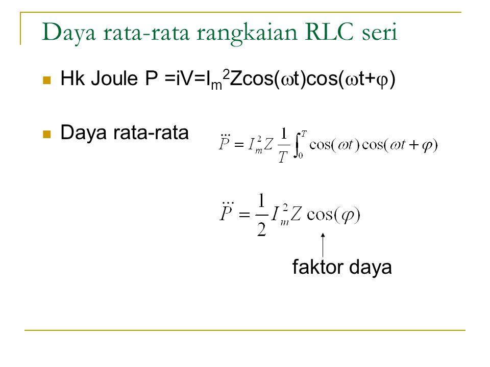 Daya rata-rata rangkaian RLC seri