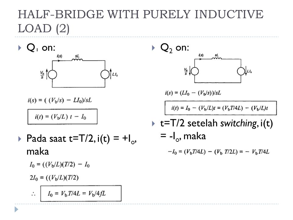 HALF-BRIDGE WITH PURELY INDUCTIVE LOAD (2)