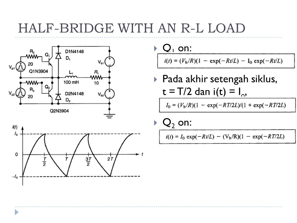 HALF-BRIDGE WITH AN R-L LOAD