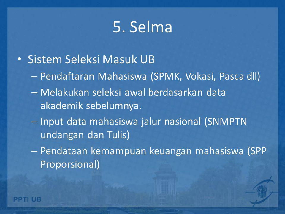 5. Selma Sistem Seleksi Masuk UB