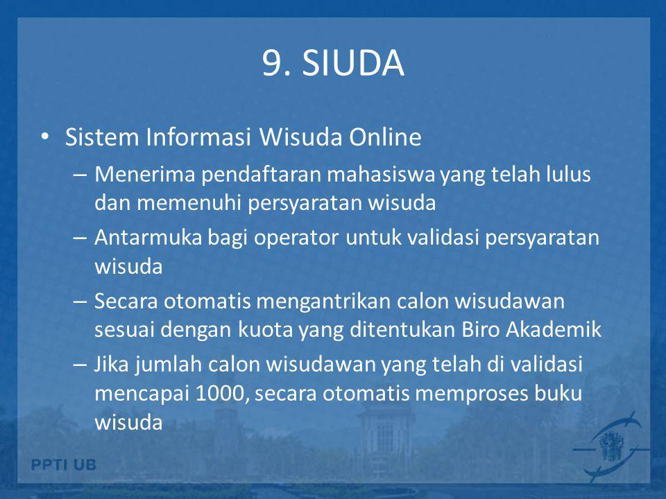 9. SIUDA Sistem Informasi Wisuda Online