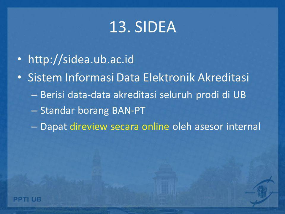 13. SIDEA http://sidea.ub.ac.id