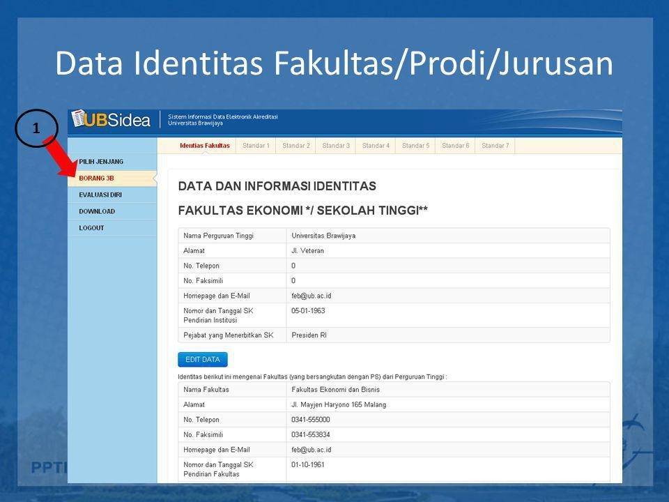 Data Identitas Fakultas/Prodi/Jurusan