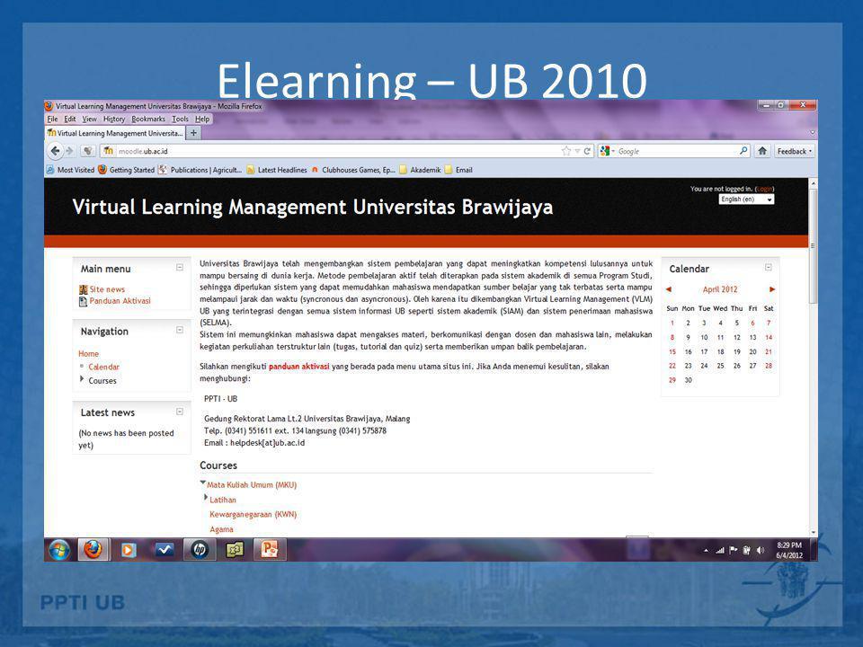 Elearning – UB 2010