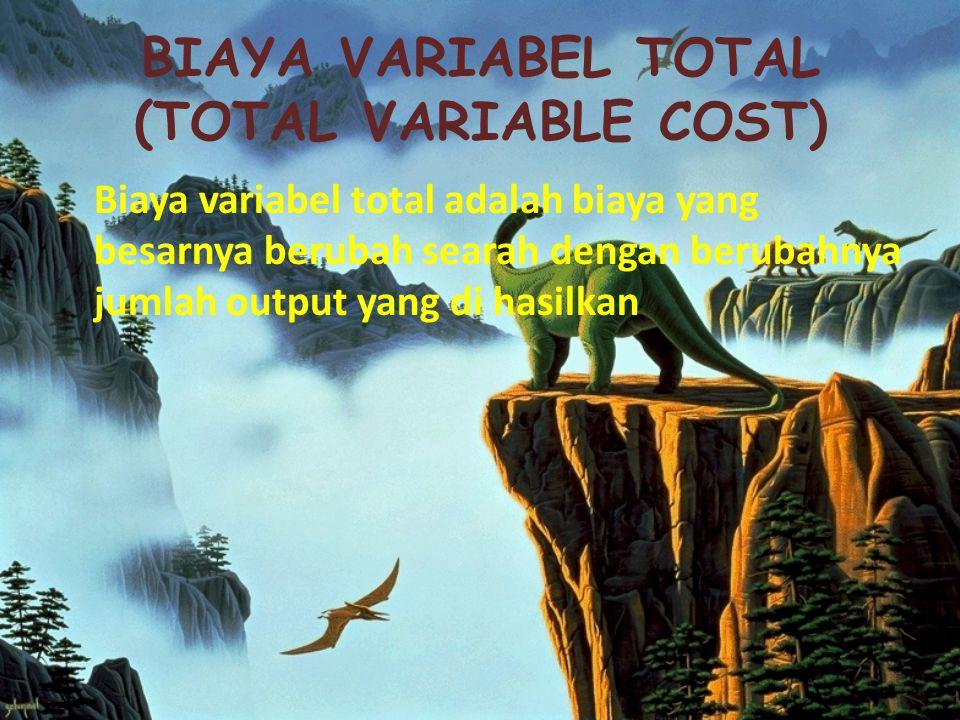 BIAYA VARIABEL TOTAL (TOTAL VARIABLE COST)