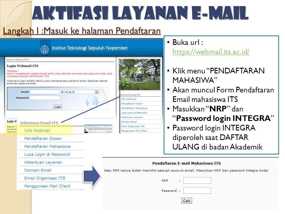 Langkah I :Masuk ke halaman Pendaftaran