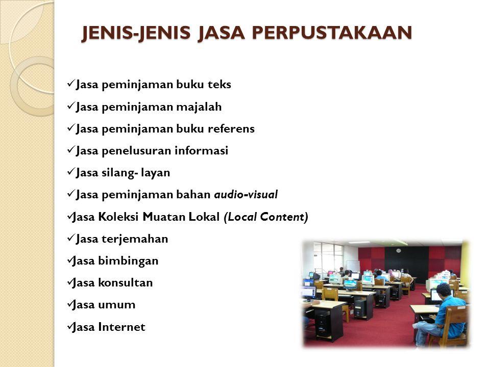 JENIS-JENIS JASA PERPUSTAKAAN