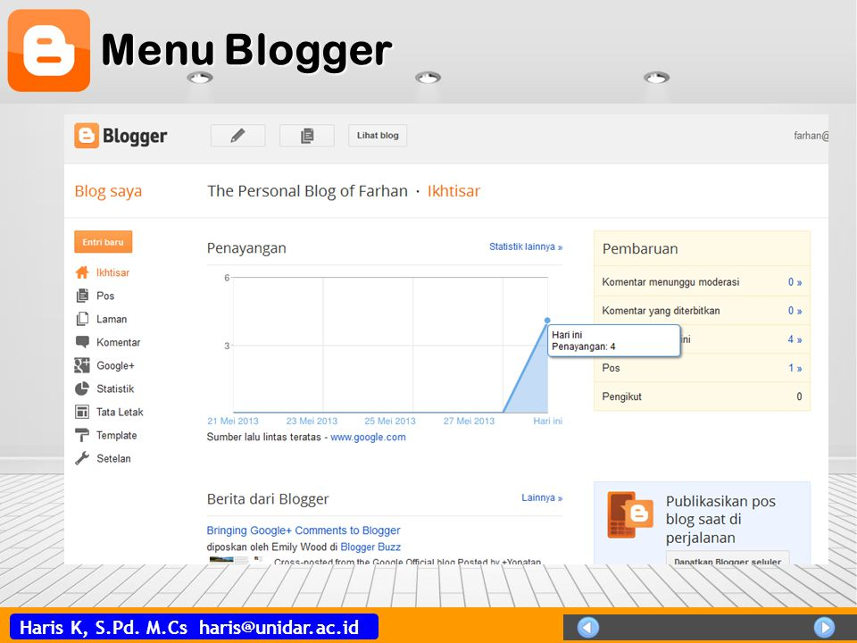 Menu Blogger