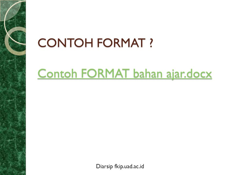 CONTOH FORMAT Contoh FORMAT bahan ajar.docx