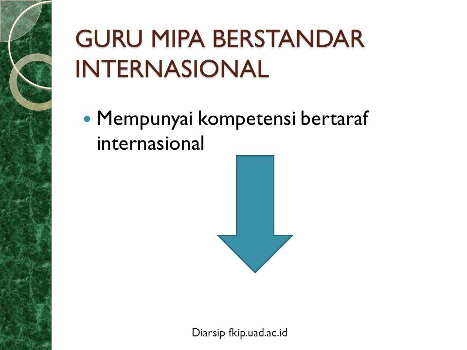 GURU MIPA BERSTANDAR INTERNASIONAL