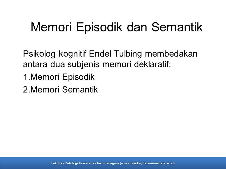 Memori Episodik dan Semantik