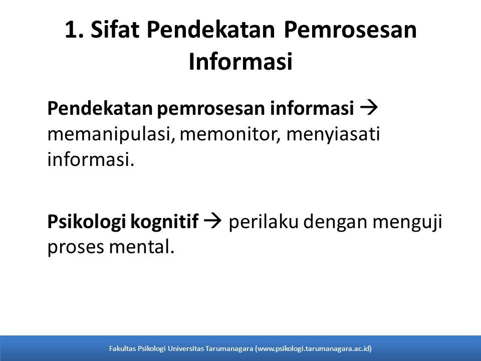 1. Sifat Pendekatan Pemrosesan Informasi