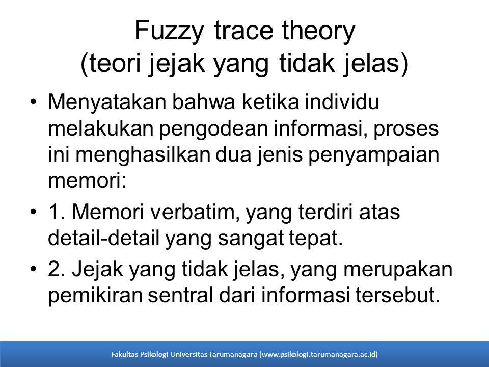 Fuzzy trace theory (teori jejak yang tidak jelas)