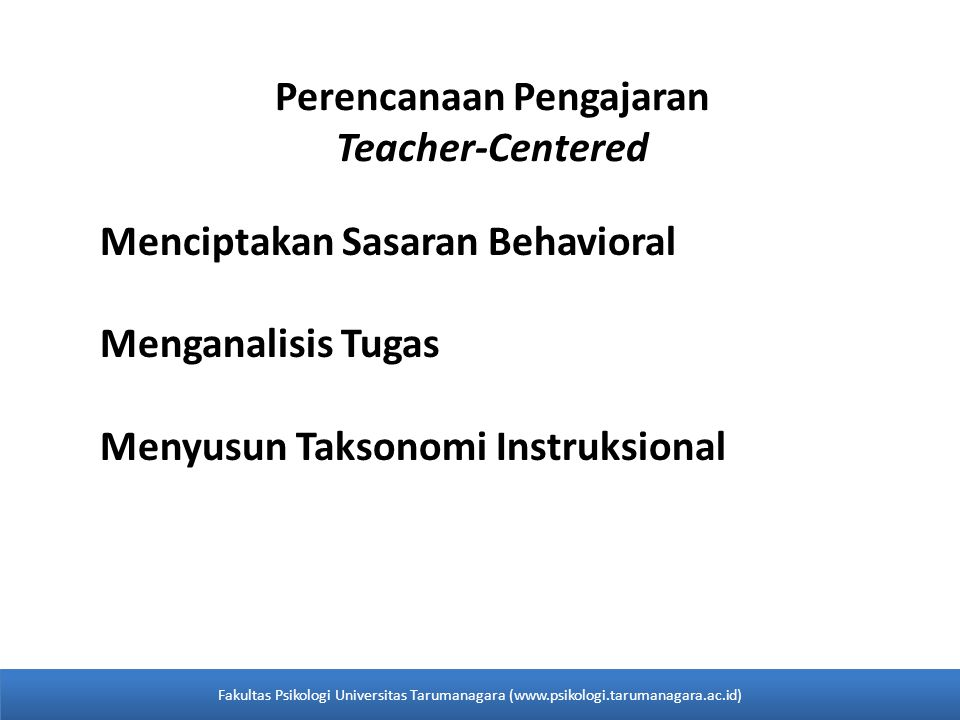Perencanaan Pengajaran Teacher-Centered