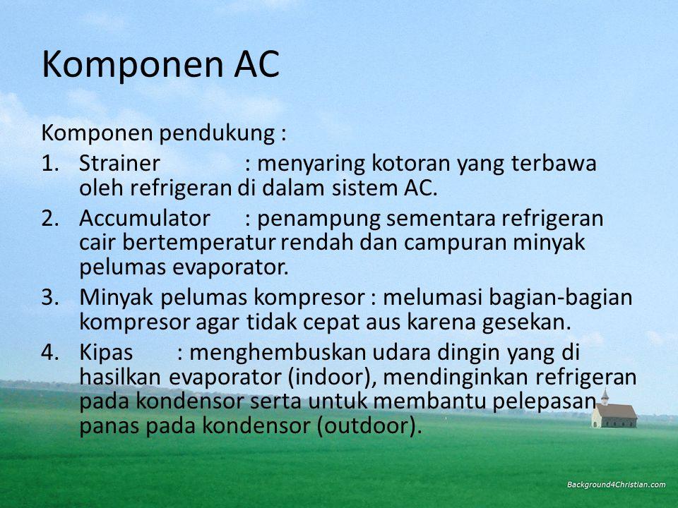 Komponen AC Komponen pendukung :
