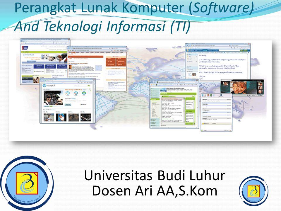 Perangkat Lunak Komputer (Software) And Teknologi Informasi (TI)