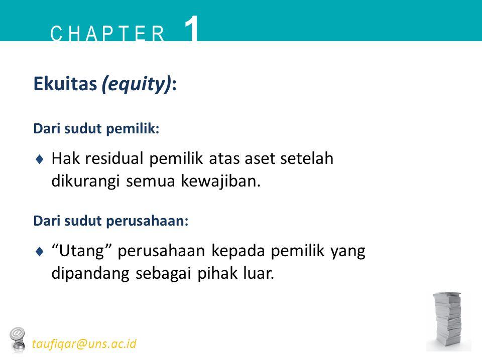 1 C h a p t e r Ekuitas (equity):