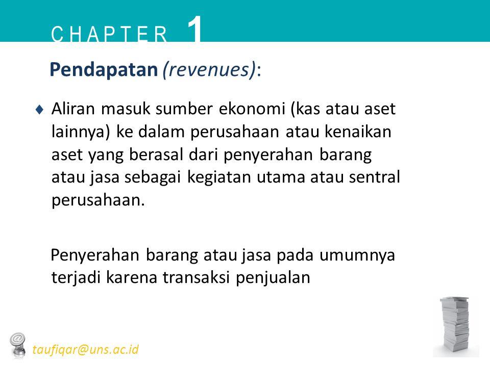 1 C h a p t e r Pendapatan (revenues):