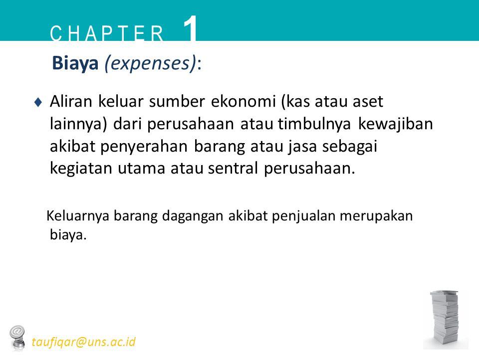 1 C h a p t e r Biaya (expenses):