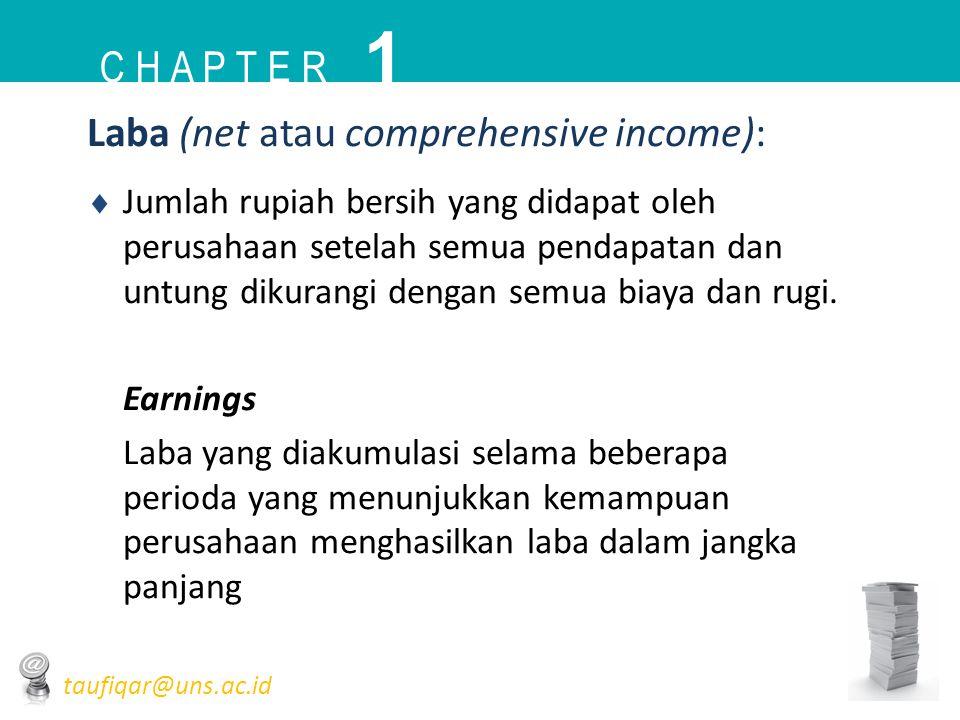 1 C h a p t e r Laba (net atau comprehensive income):
