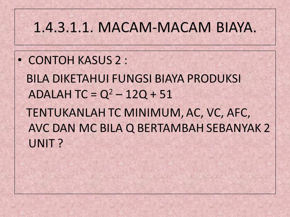 1.4.3.1.1. MACAM-MACAM BIAYA. CONTOH KASUS 2 :