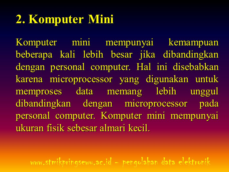 www.stmikpringsewu.ac.id - pengolahan data elektronik