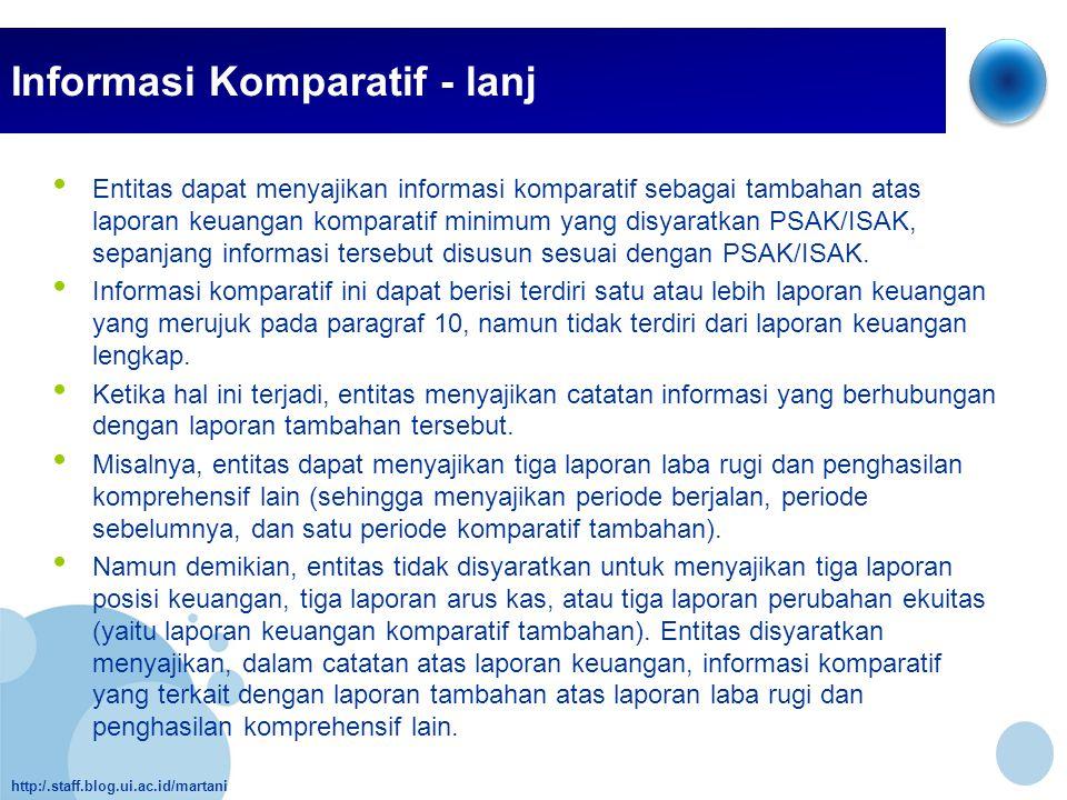 Informasi Komparatif - lanj