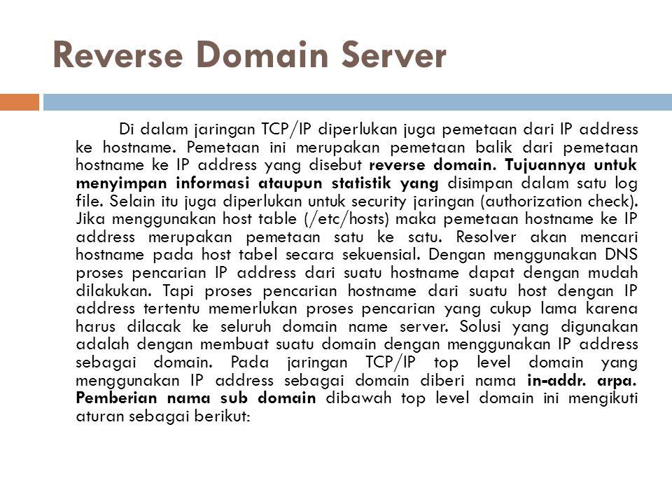 Reverse Domain Server