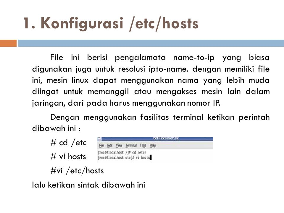 1. Konfigurasi /etc/hosts