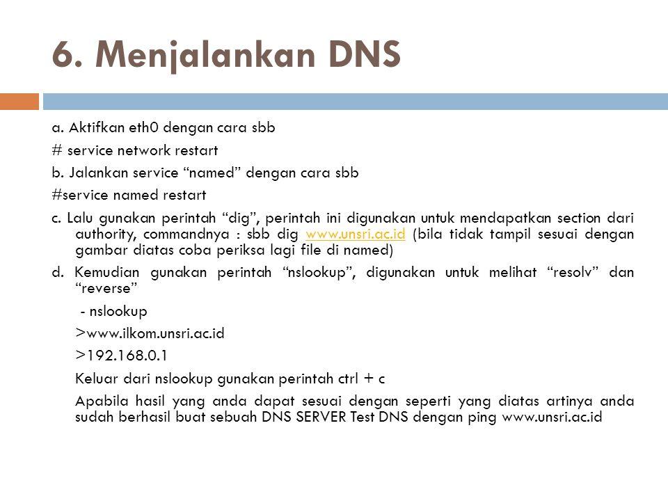 6. Menjalankan DNS