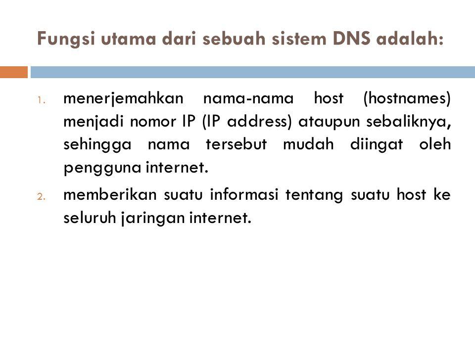 Fungsi utama dari sebuah sistem DNS adalah: