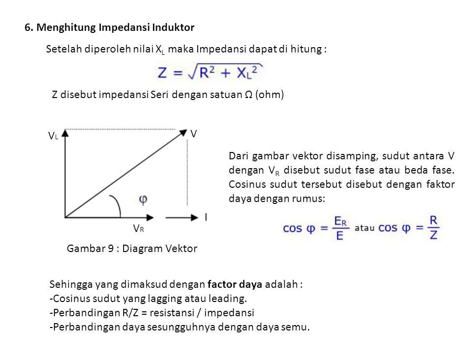 6. Menghitung Impedansi Induktor