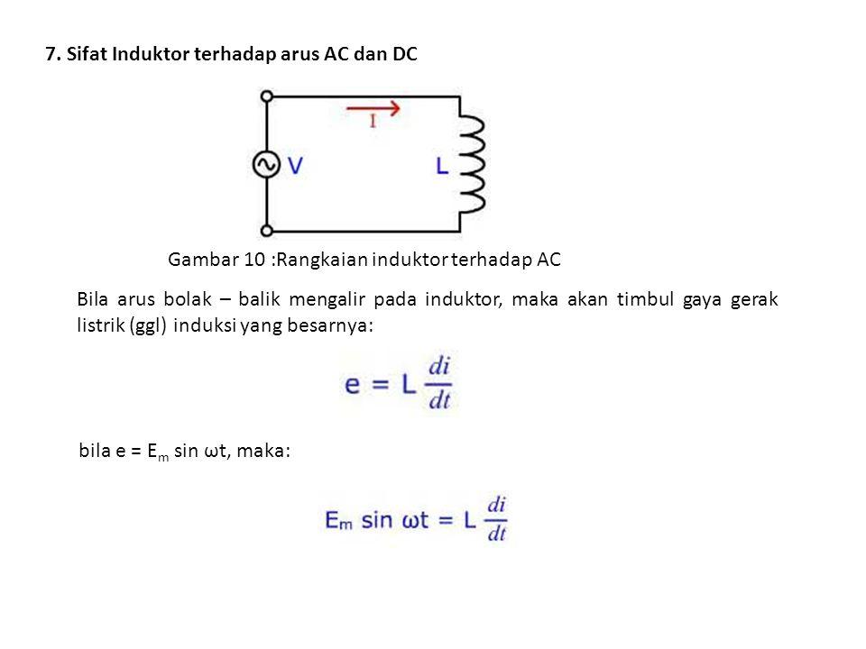 7. Sifat Induktor terhadap arus AC dan DC