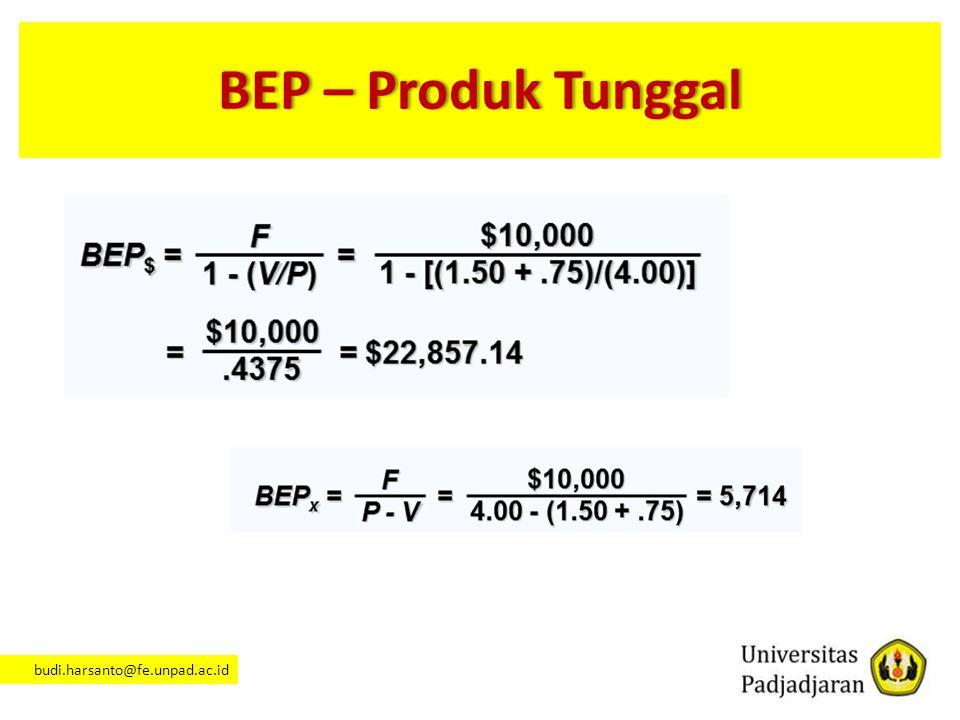 BEP – Produk Tunggal