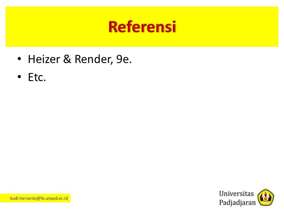 Referensi Heizer & Render, 9e. Etc.