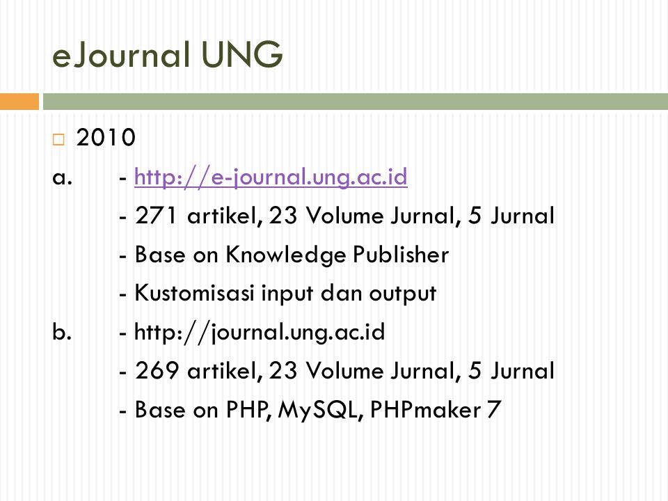 eJournal UNG 2010 a. -