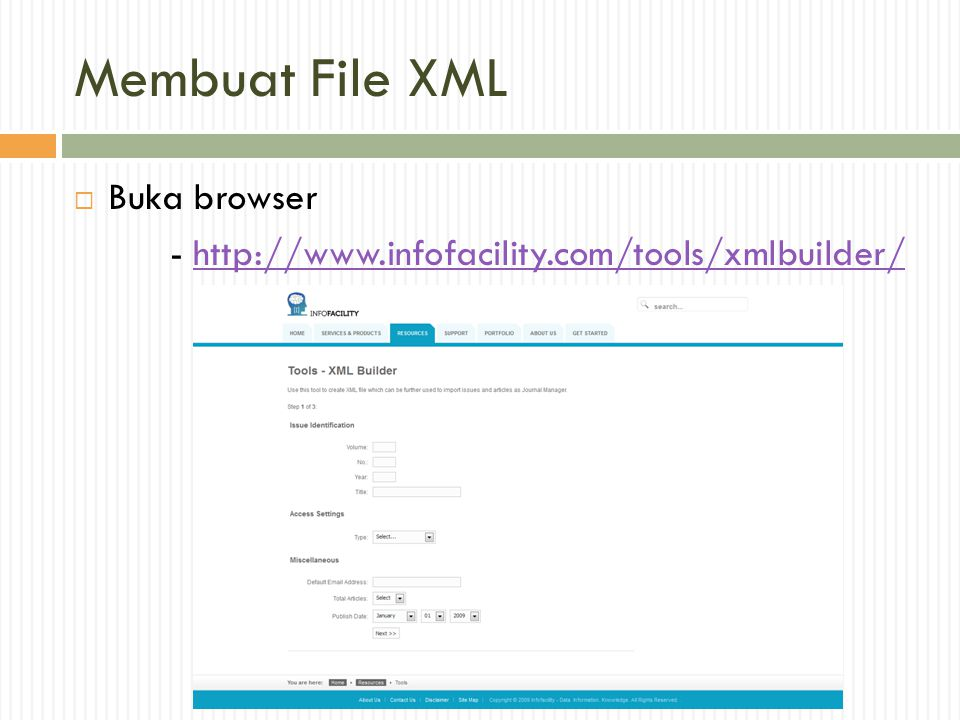 Membuat File XML Buka browser