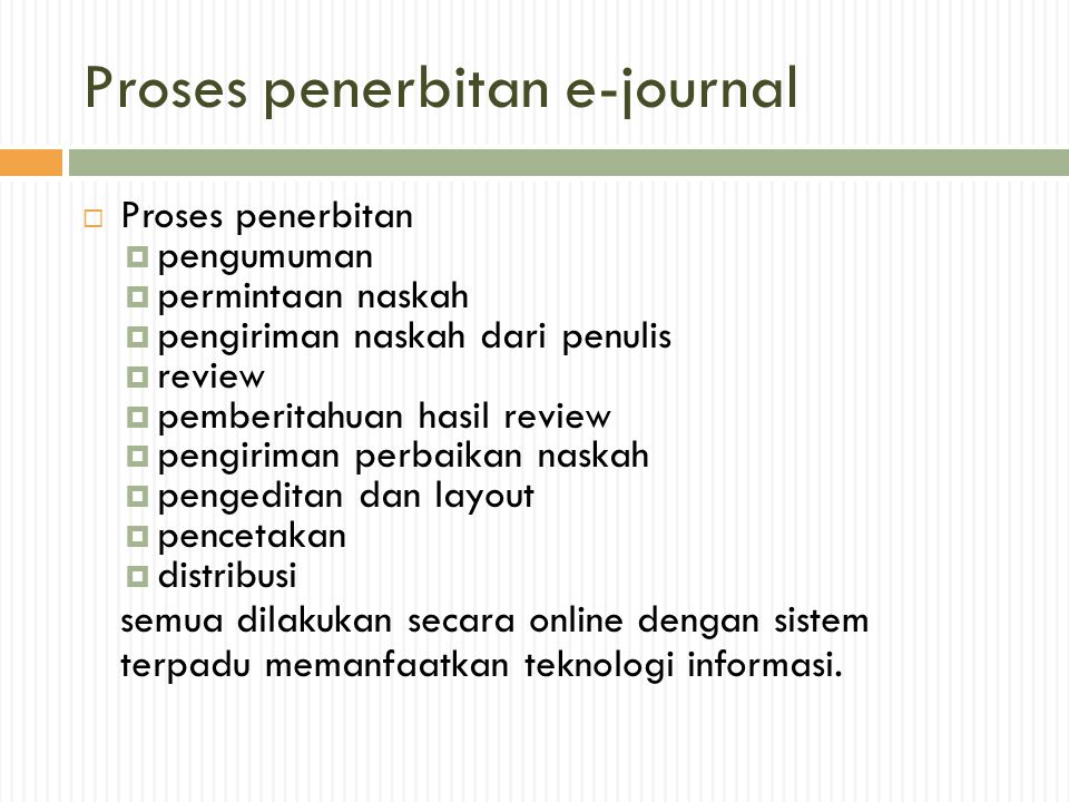 Proses penerbitan e-journal