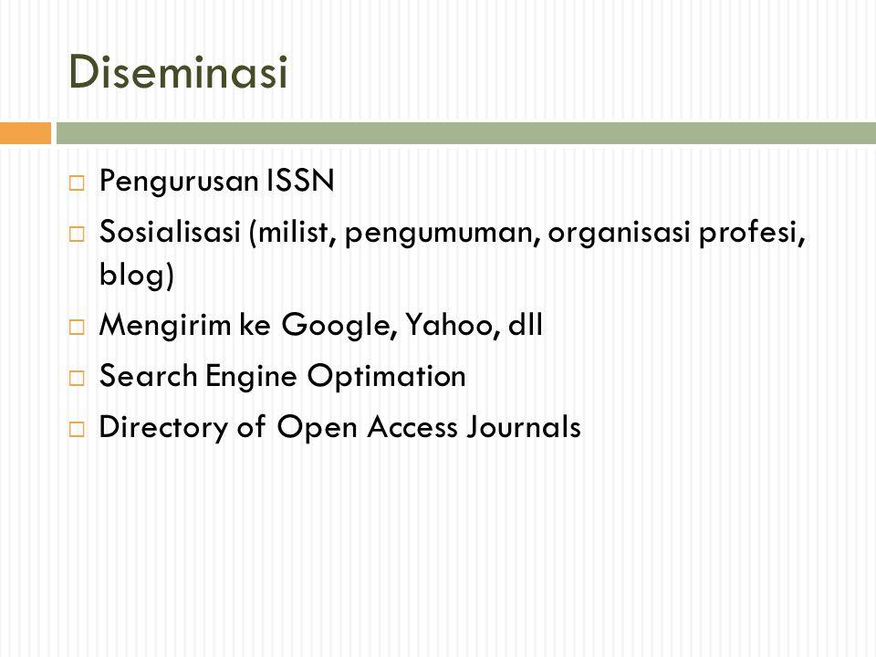 Diseminasi Pengurusan ISSN