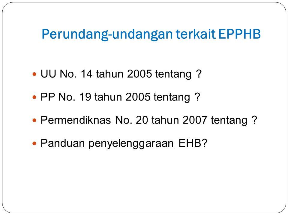Perundang-undangan terkait EPPHB