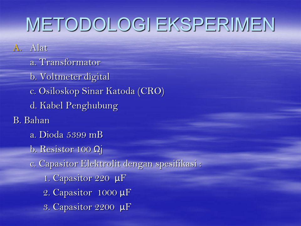 METODOLOGI EKSPERIMEN