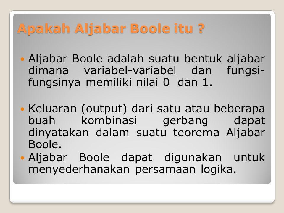 Apakah Aljabar Boole itu