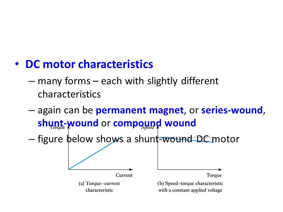 DC motor characteristics