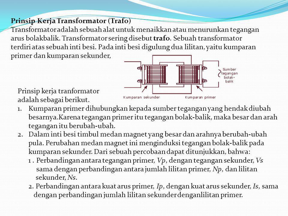 Prinsip Kerja Transformator (Trafo)
