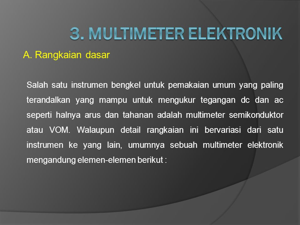3. MULTIMETER ELEKTRONIK