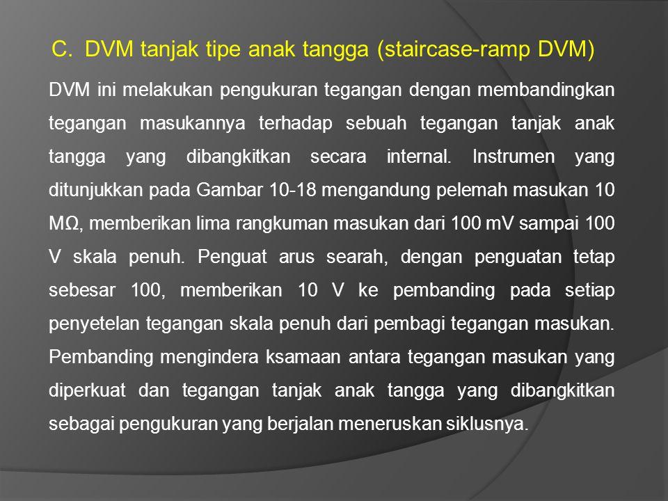 DVM tanjak tipe anak tangga (staircase-ramp DVM)