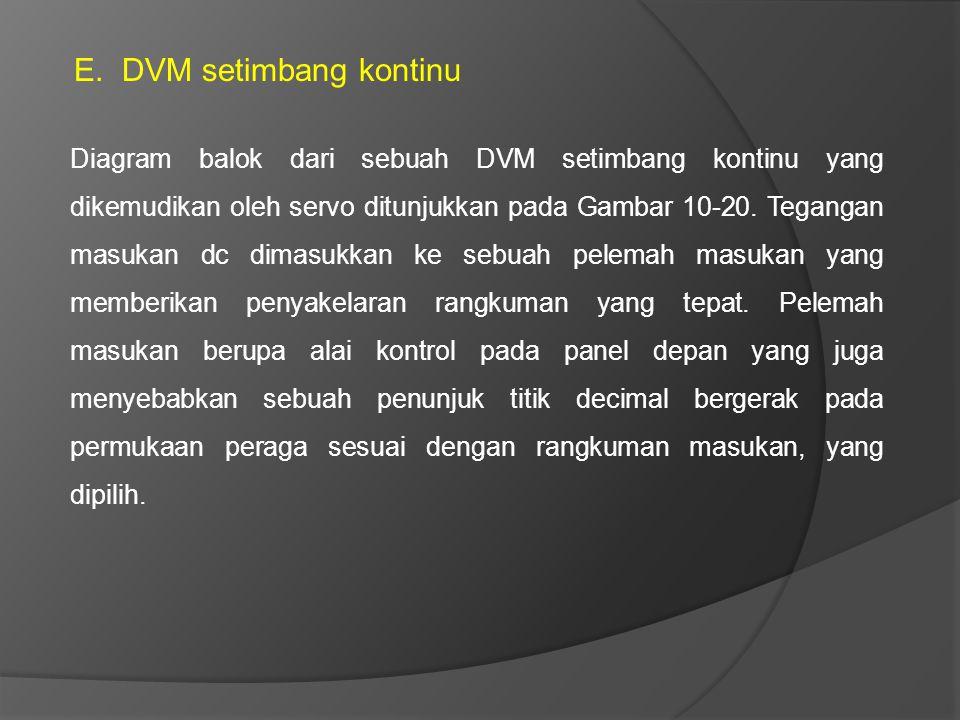 DVM setimbang kontinu