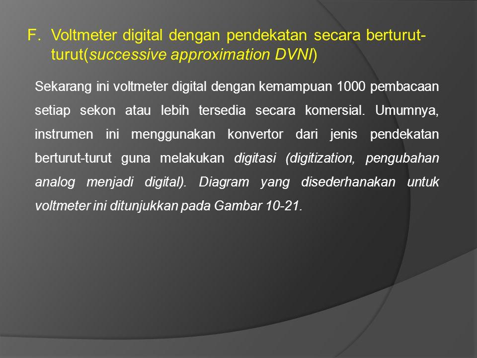 Voltmeter digital dengan pendekatan secara berturut-turut(successive approximation DVNI)