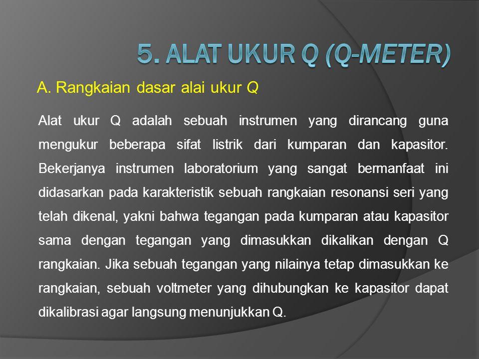 5. ALAT UKUR Q (Q-METER) Rangkaian dasar alai ukur Q