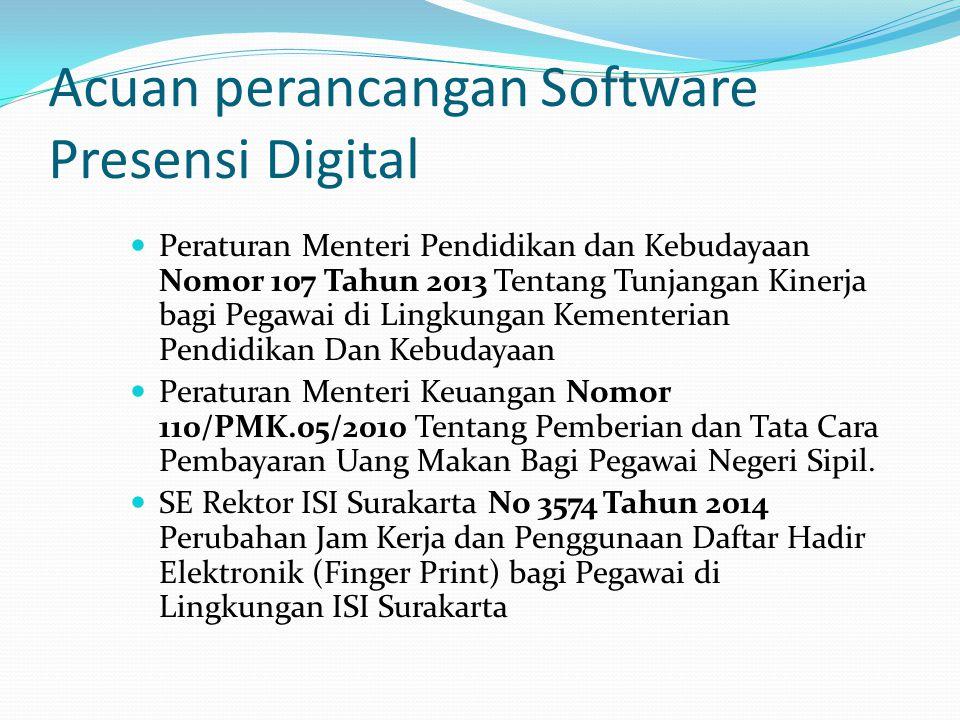 Acuan perancangan Software Presensi Digital